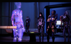 Kasumi, Legion, and Shepard enter the Citadel.